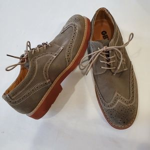 GBX Wingtip Oxford suede leather laceup shoes